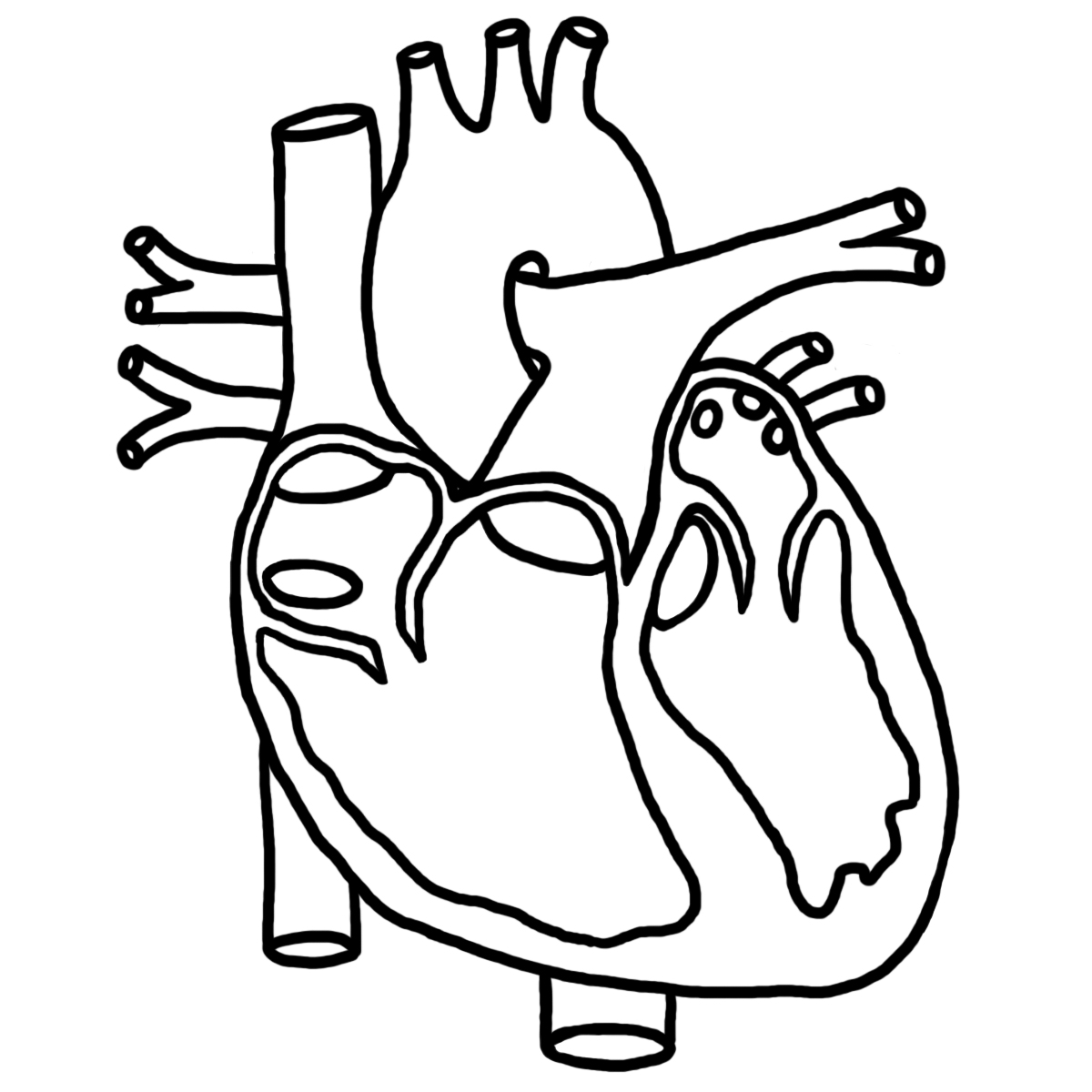 the heart coloring pages - photo #8