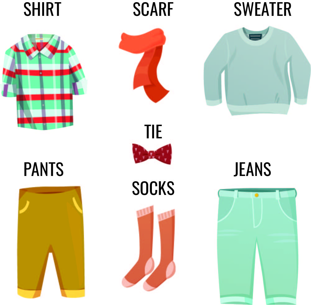 Kids Clothes Flash Cards