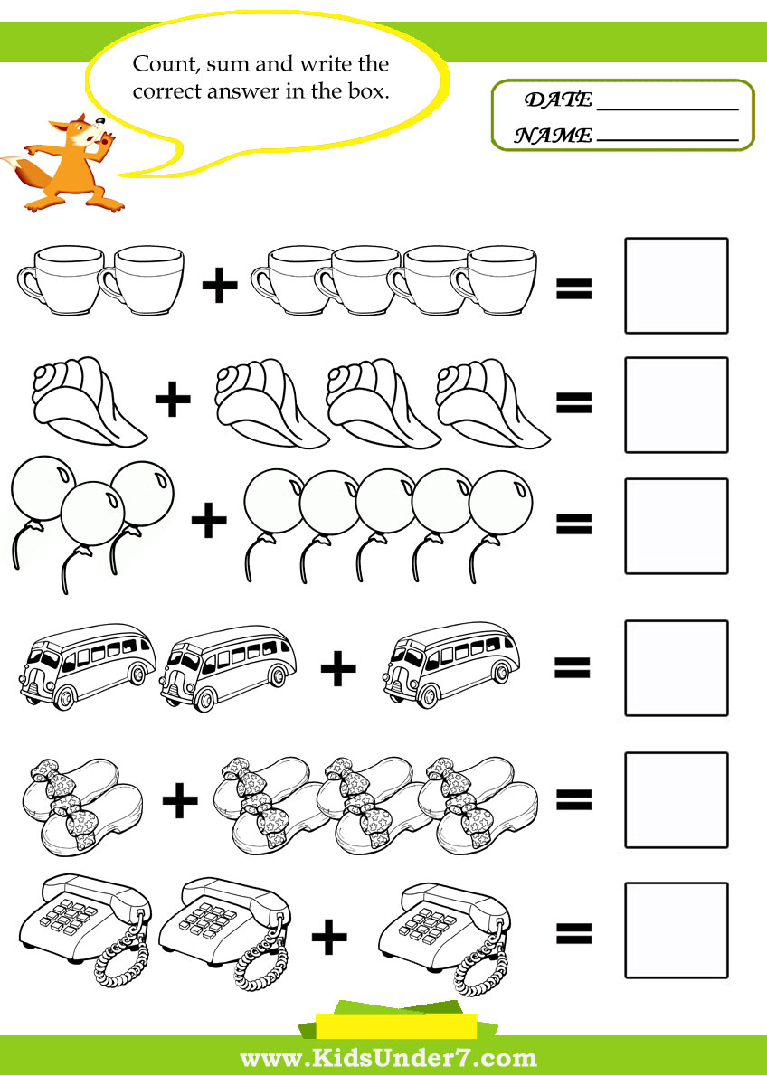 5 Images of Math Activities For Preschoolers Printables