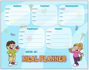 5 best images of printable meal menu charts printable for Free printable menu templates for kids