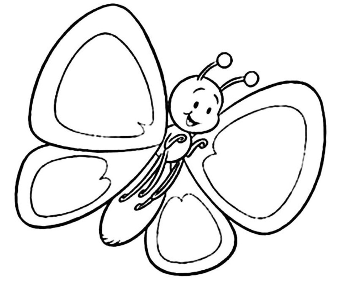 4 Images of Printable Butterfly Coloring Page Spring Is Here