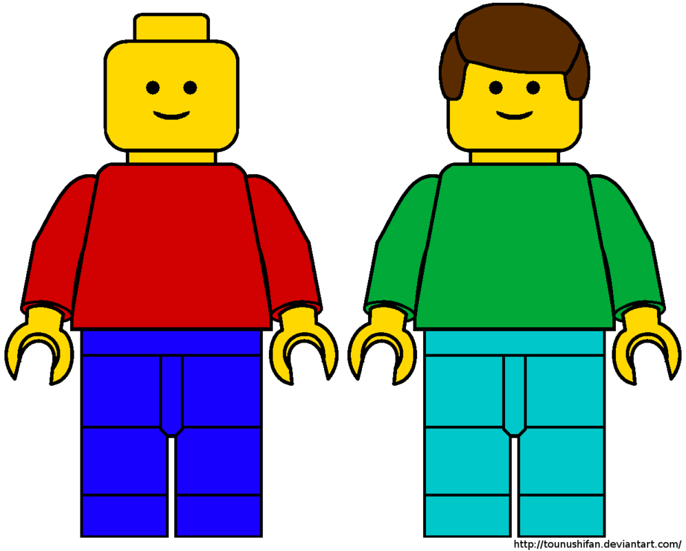4 Images of Free Printable LEGO Man