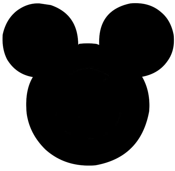 8 Images of Mickey Mouse Head Printable