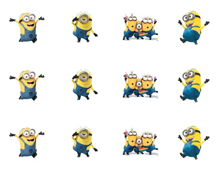 6 Images of Minion Birthday Party Printables