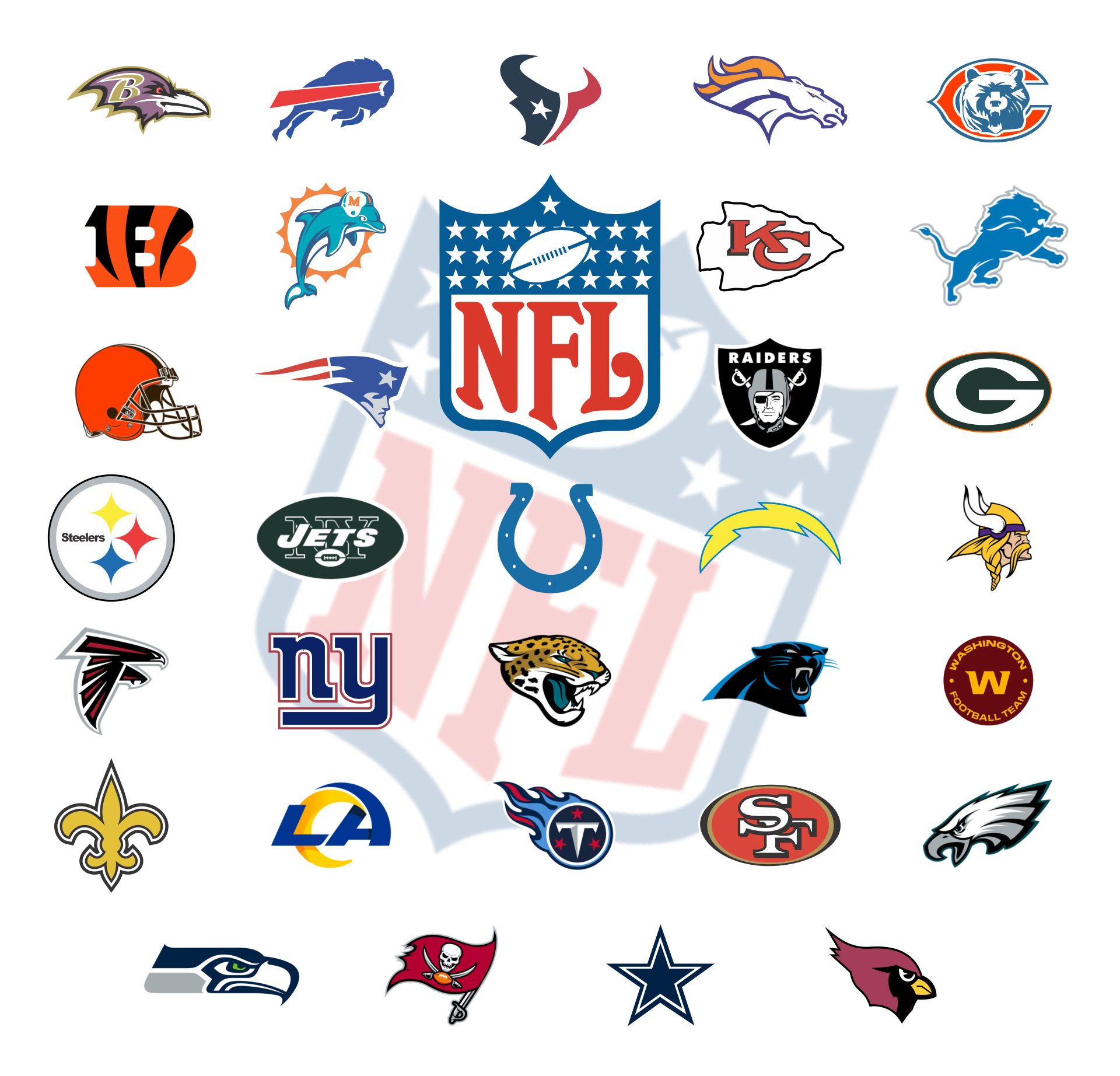 7 Best Images of NFL Football Logos Printable - NFL ...