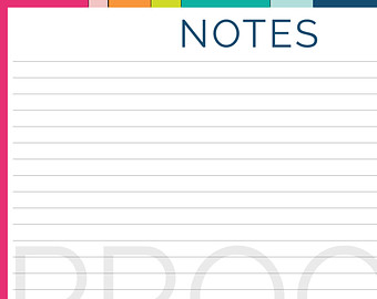 Notes Planner Page Printable