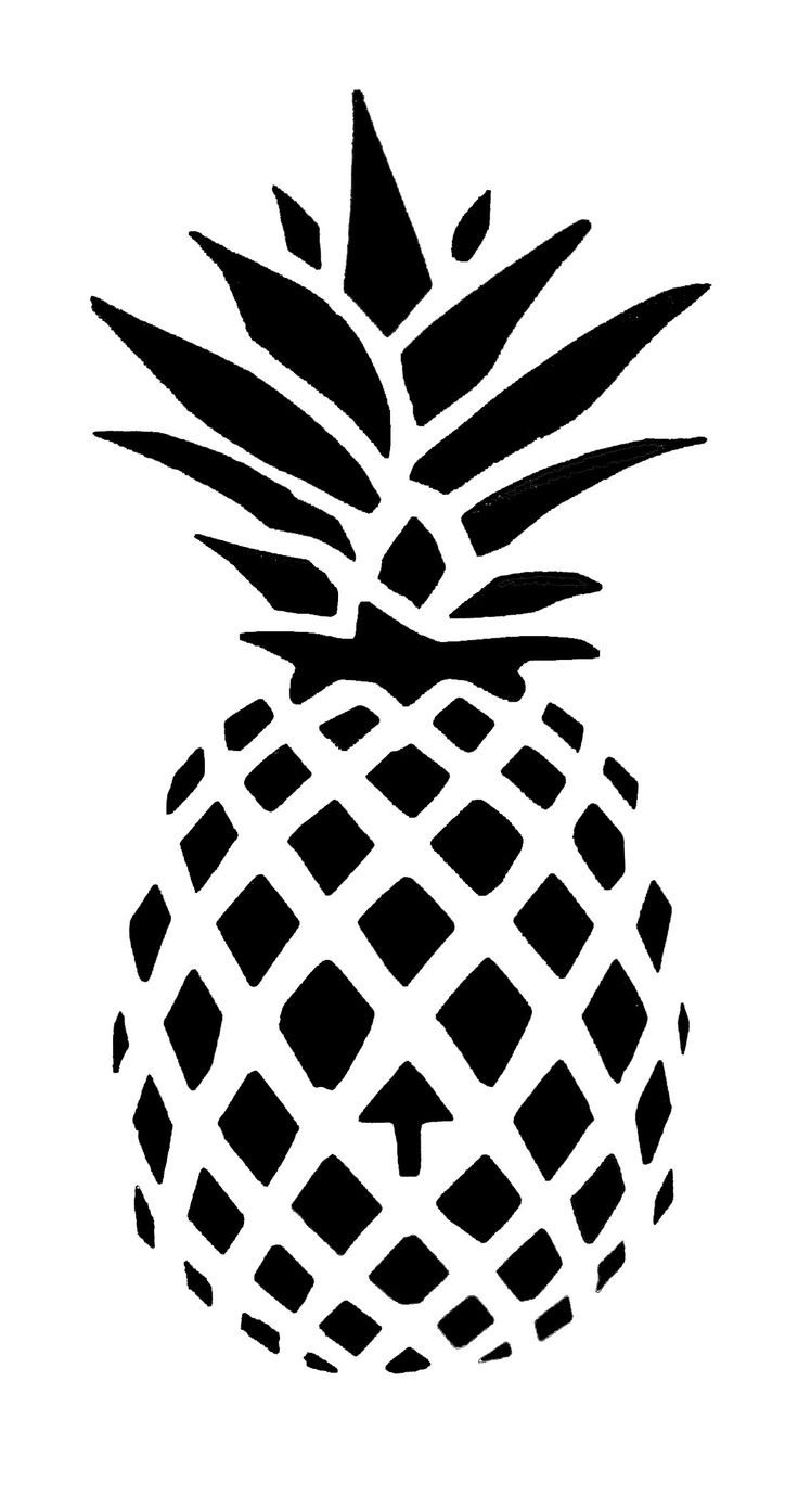 7 Images of Pineapple Stencil Printable