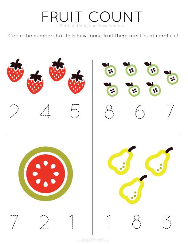 Math Worksheet Preschoolers Worksheet Printable – Free Maths Worksheets for Kids