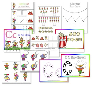 6 Images of Free Printable Circus Activities