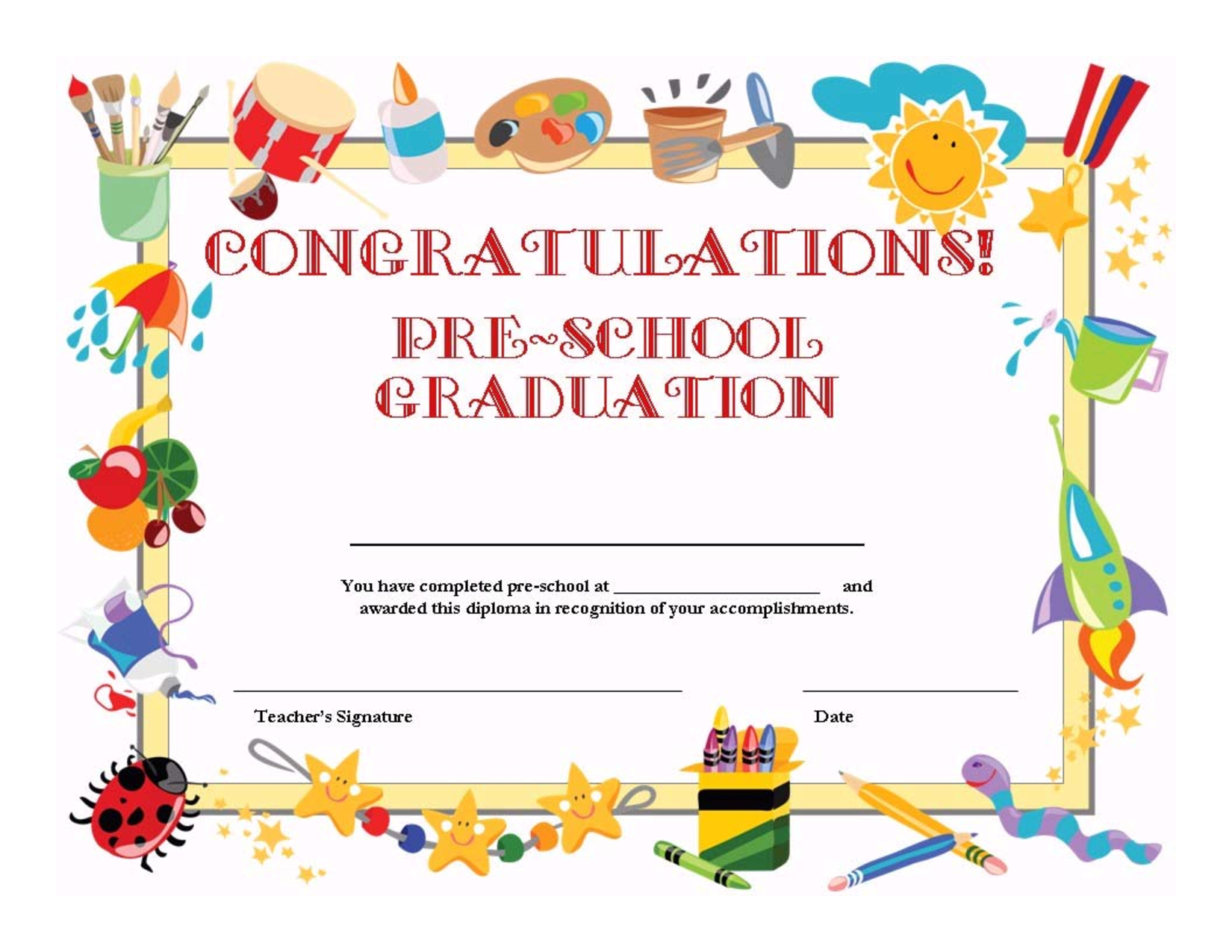 8 best images of free printable graduation certificates for Free graduation certificate template