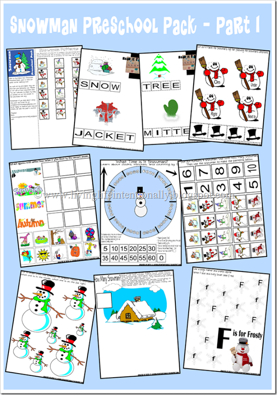 4 Images of Snowman Printables For Preschool