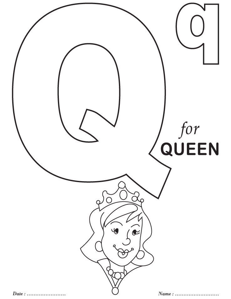 4 Images of Letter Q Coloring Pages Printable