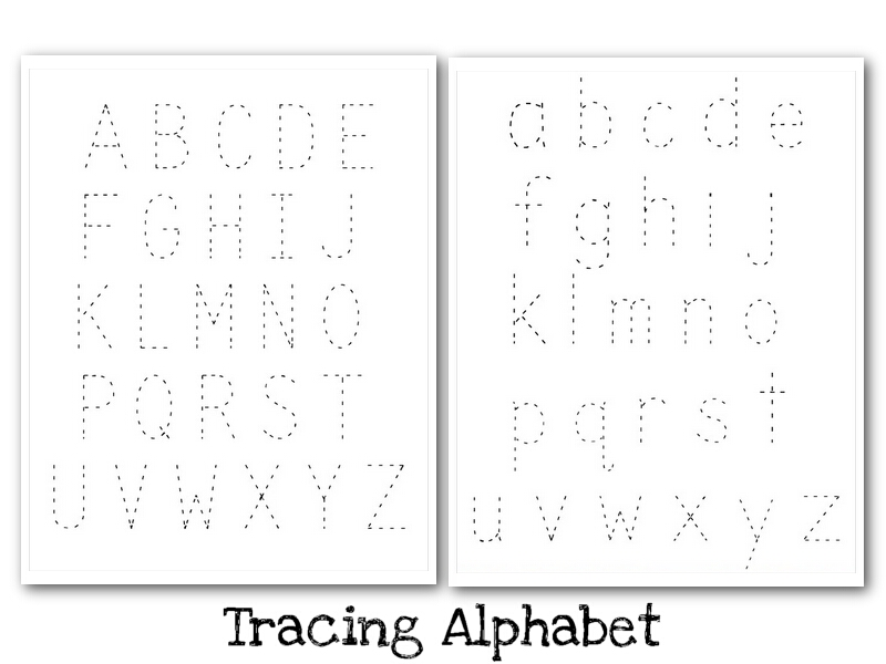 Printable Alphabet Tracing Pages | April Calendar | April Calendar