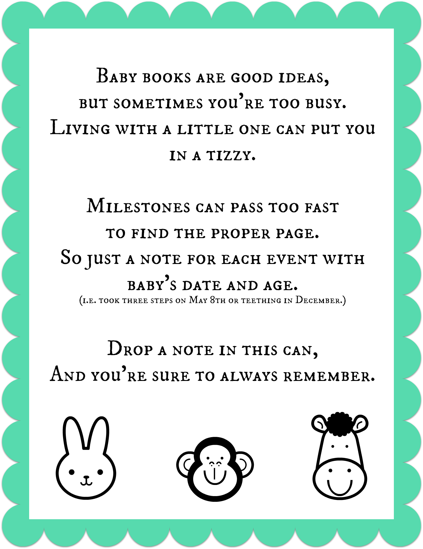 8 Images of Baby Book Printables