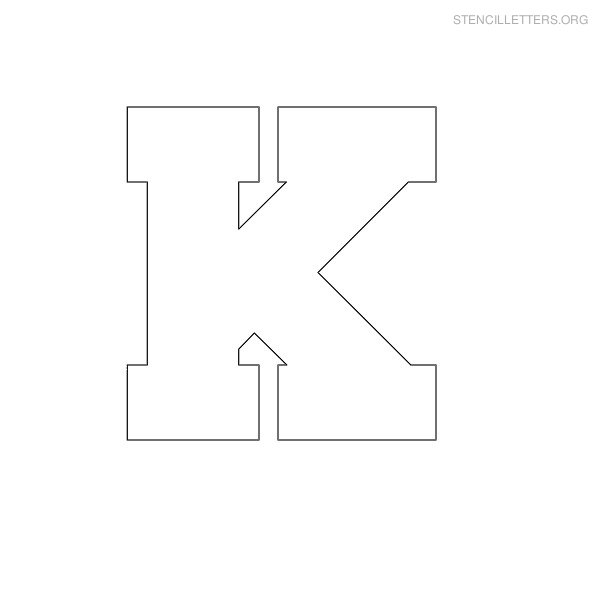 7 Images of Printable Letter Stencil K