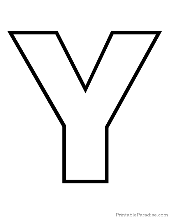 Best Images of Printable Letter Y Template - Free Printable Alphabet ...