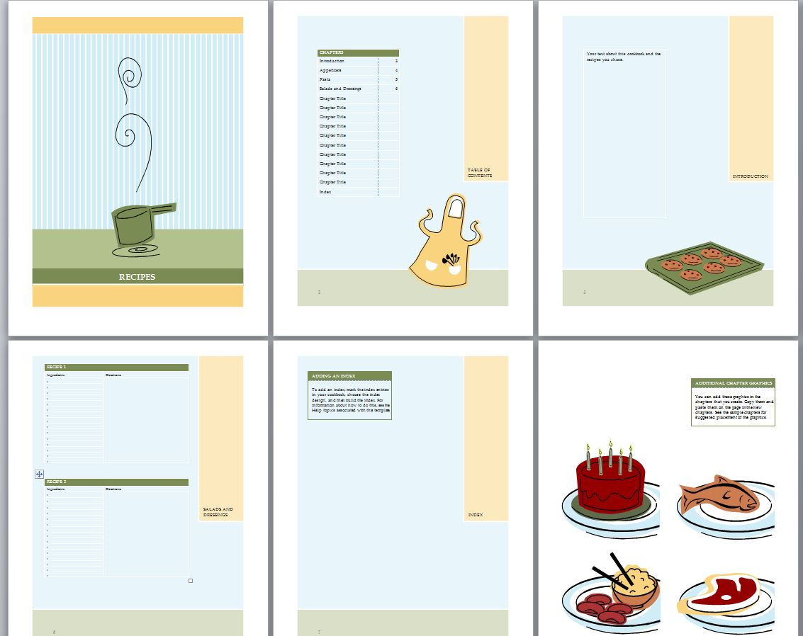 4 best images of free printable cookbook templates free for Free online cookbook template