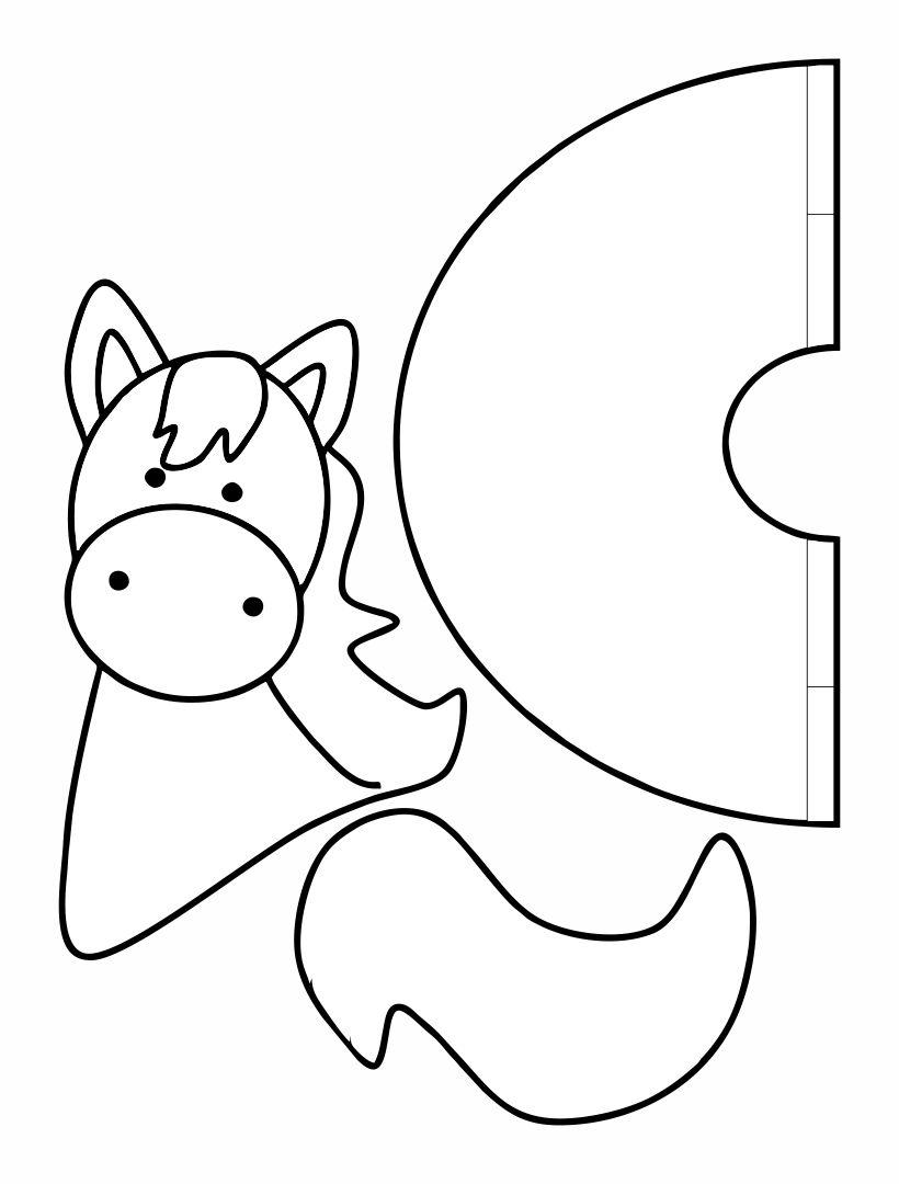 Printable Horse Head Pattern