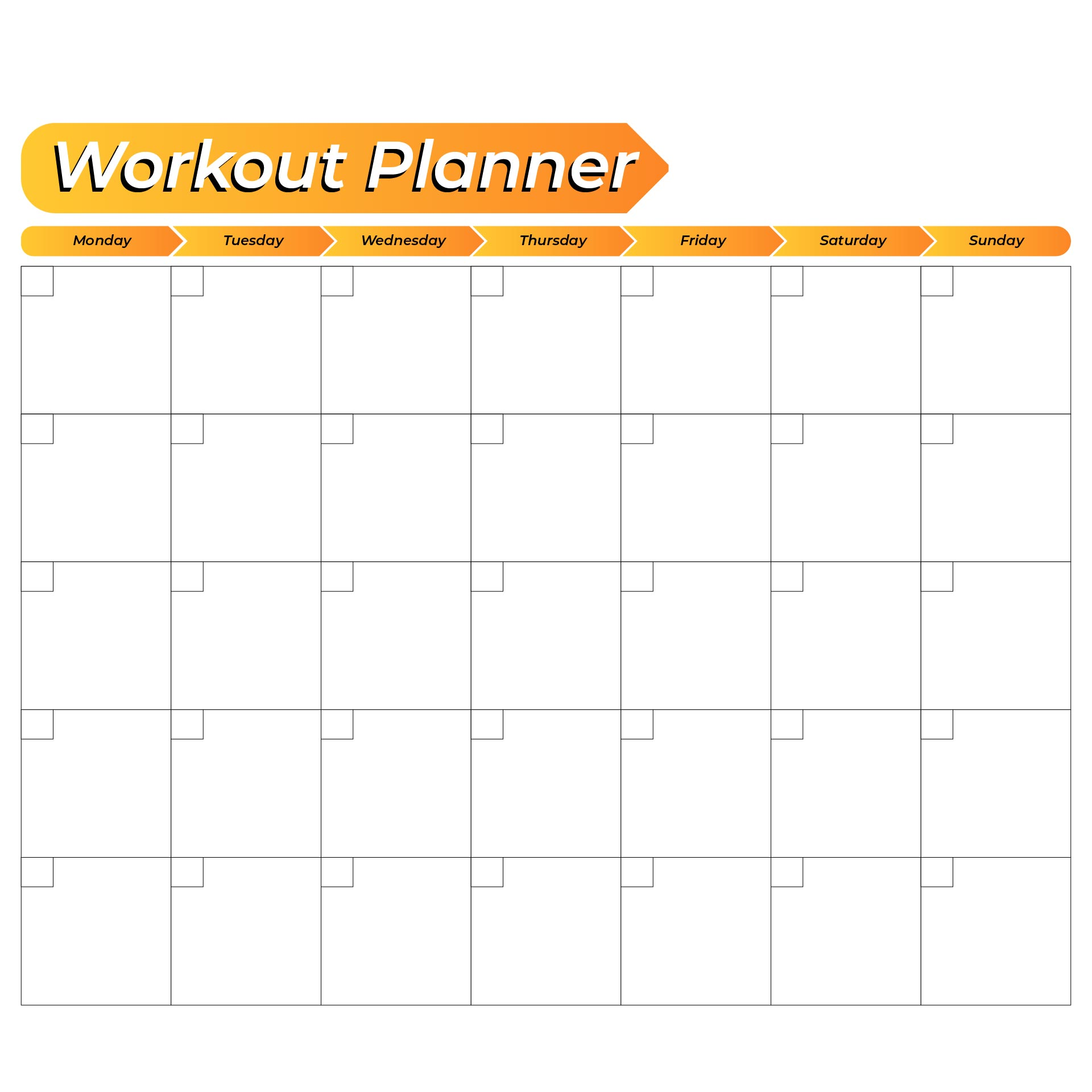 6 Images of Free Printable Weekly Workout Schedule