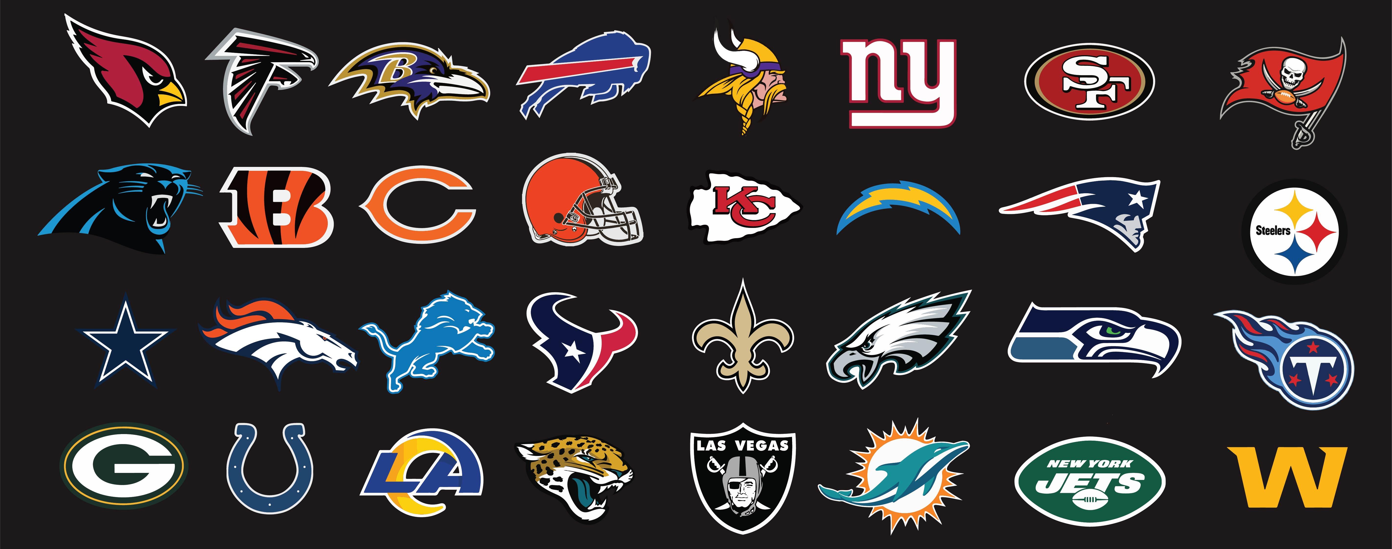 Printable NFL Football Team Logos
