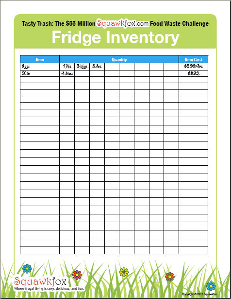 9 best images of refrigerator inventory printable list printable pantry inventory list free. Black Bedroom Furniture Sets. Home Design Ideas