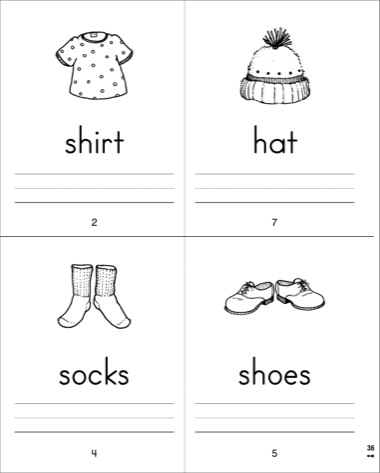 4 Images of Sight Word Mini Book Printables
