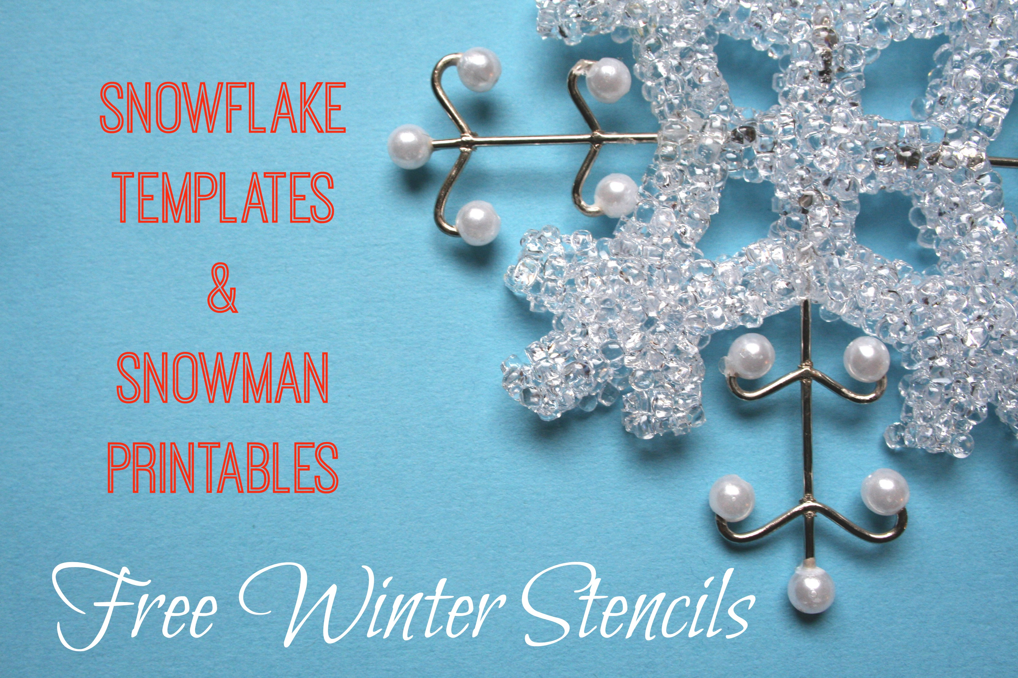 6 Images of Free Winter Printable Stencils