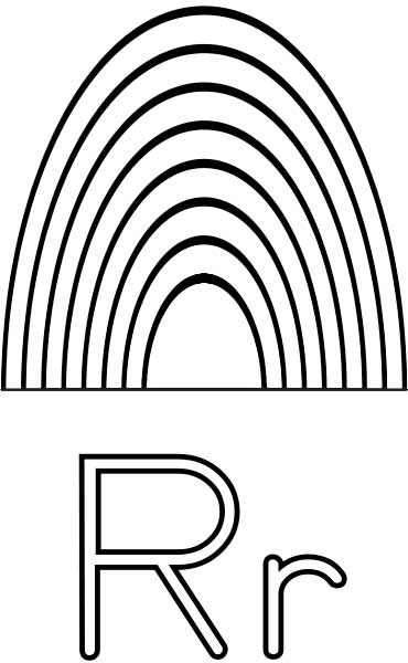 6 Images of R Is For Rainbow Printable