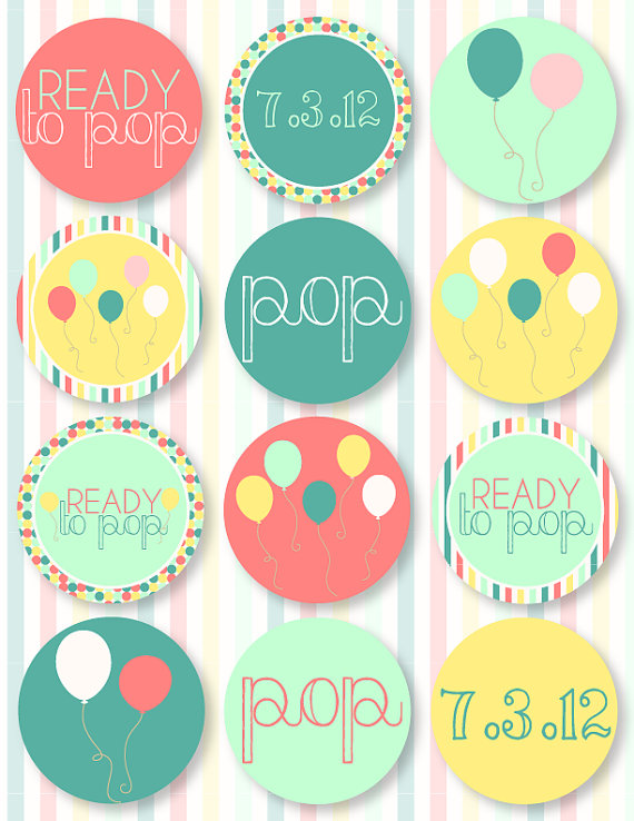 4 Images of Ready To Pop Baby Shower Free Printables
