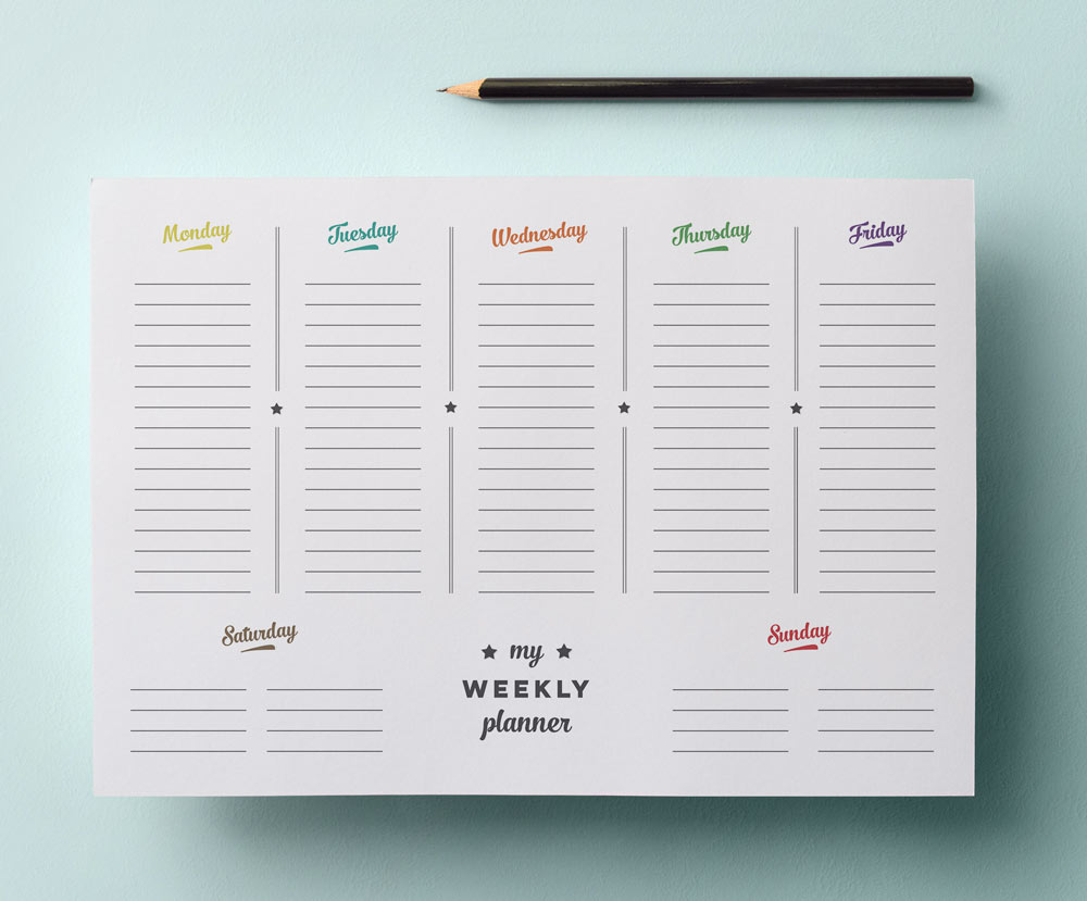 Simple Weekly Planner Printable