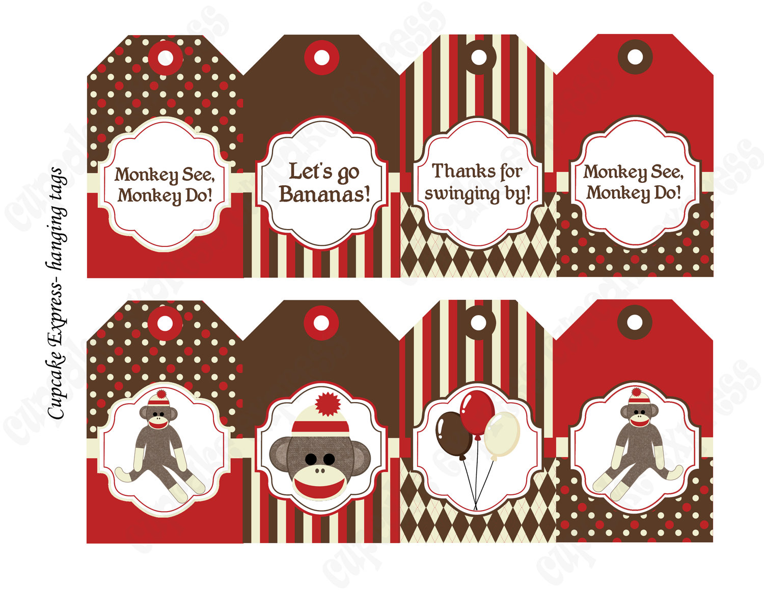 Sock Monkey Face Clip Art