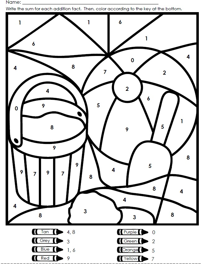 math worksheet : 7 best images of free printable color by number math worksheets  : Free Printable Color By Number Addition Worksheets