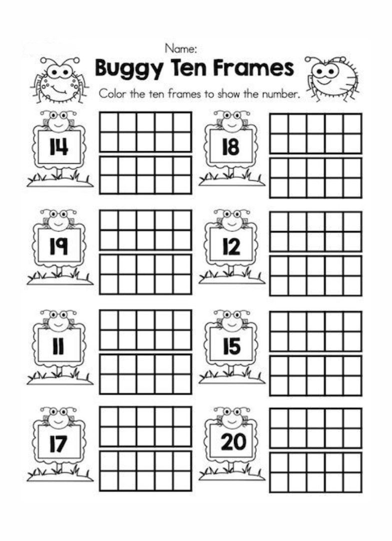 Teen Number Worksheets Kindergarten