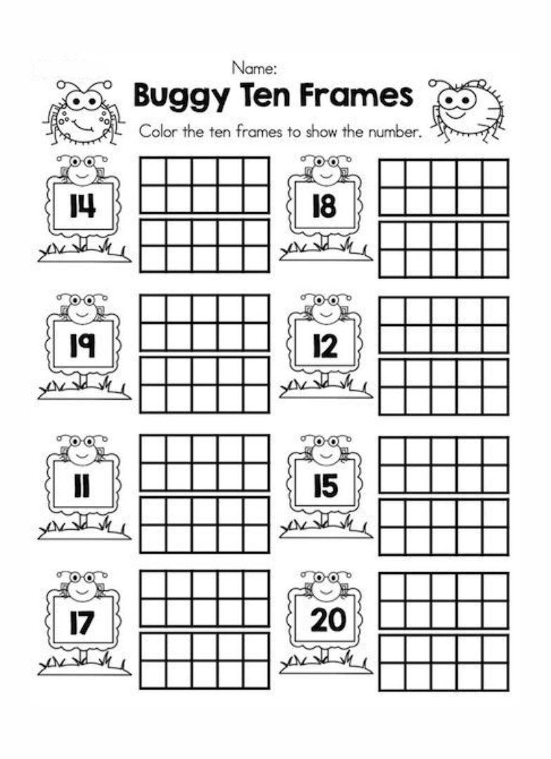 Teen Number Worksheets Kindergarten