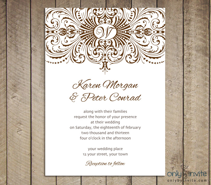 Wedding Invitation Templates Printable