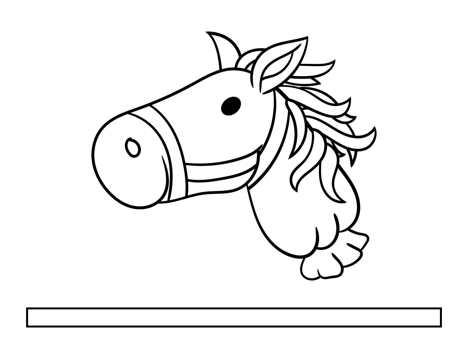 Wood Stick Horse Head Pattern