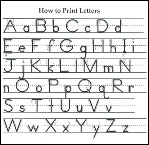 printable cursive letter alphabets alphabet 5 best images of free printable manuscript alphabet chart 803