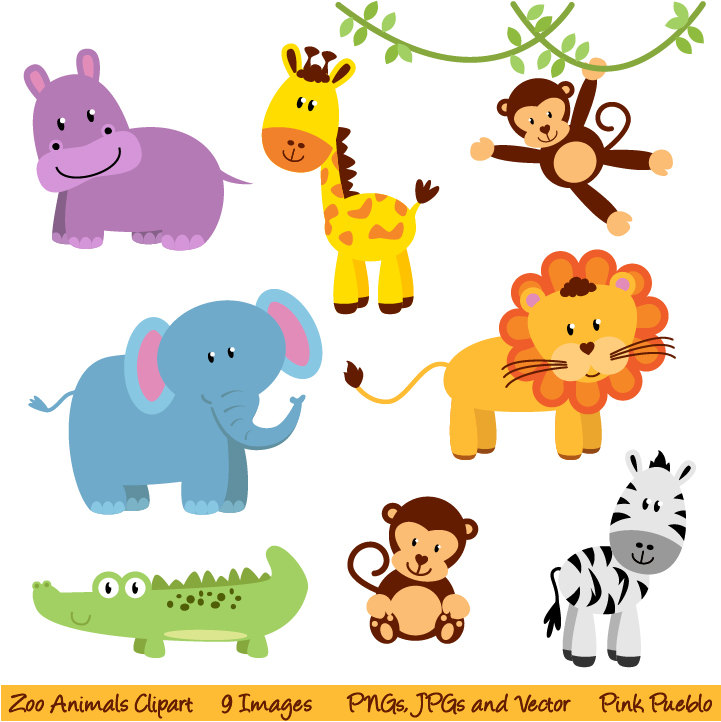 8 Images of Printable Zoo Animals Clip Art
