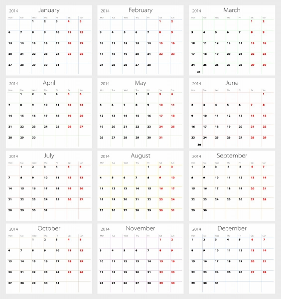 Printable 12 Month Calendar – Printable Pages