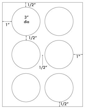 3 Inch Round Printable Labels