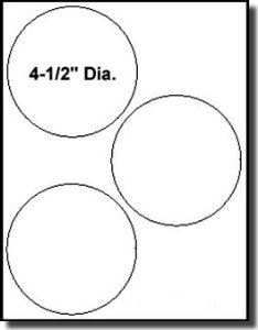 4.5 Inch Diameter Circle Template