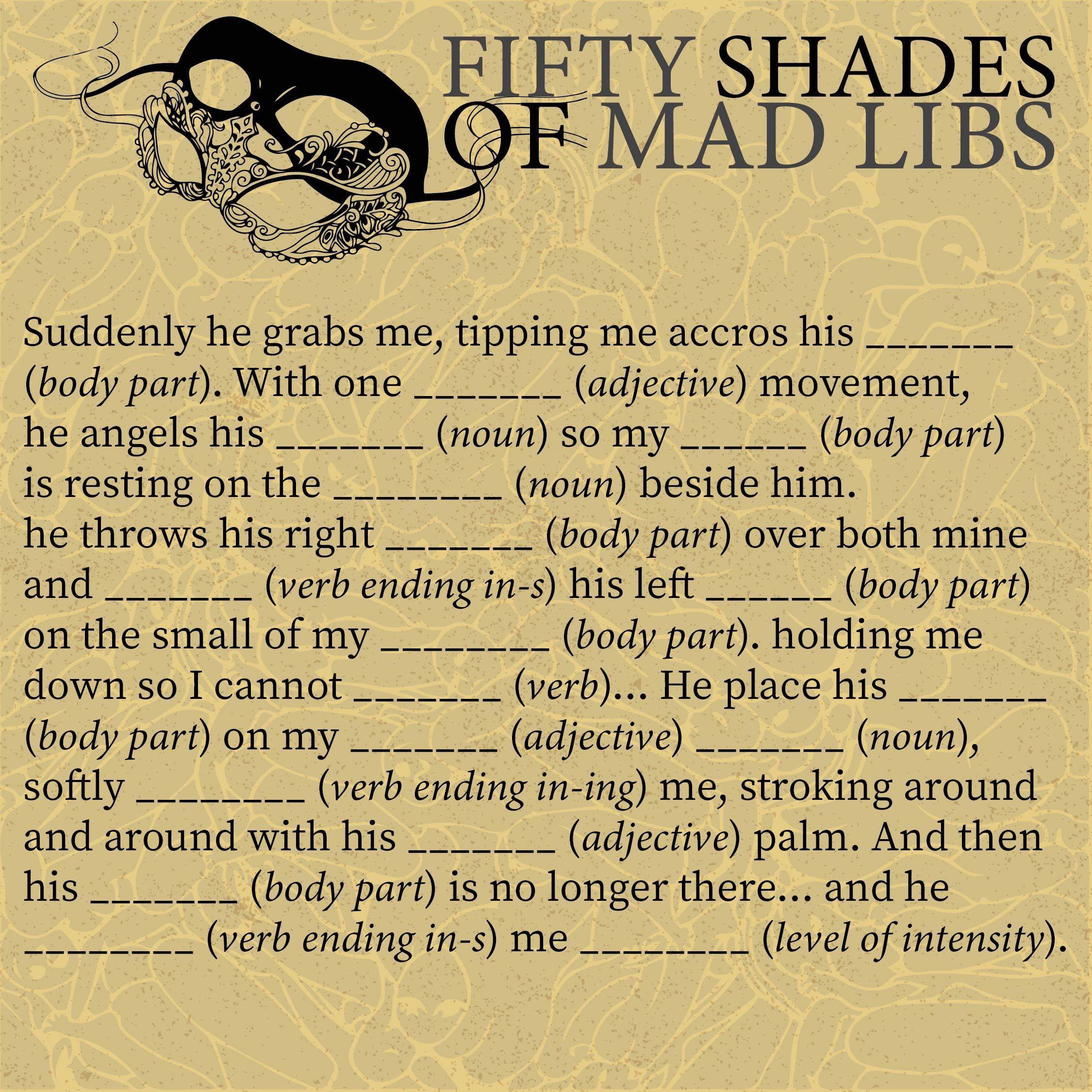 Adult Mad Libs Printable