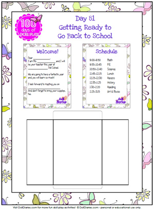 9 Images of Doll School Printables