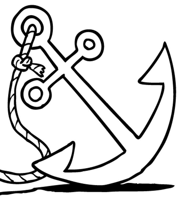Anchor Clip Art Black and White