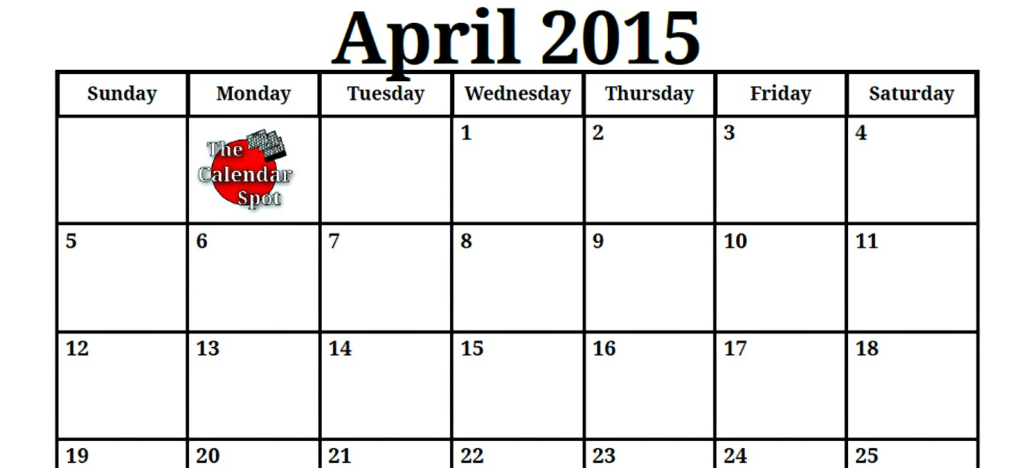 Calendar April 2015 : Best images of spot by the month september calendar