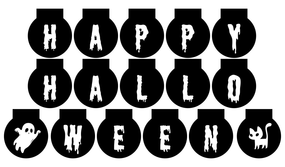 Black Printable Halloween Banners