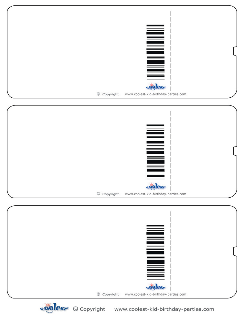 6 Images of Ticket Template Printable