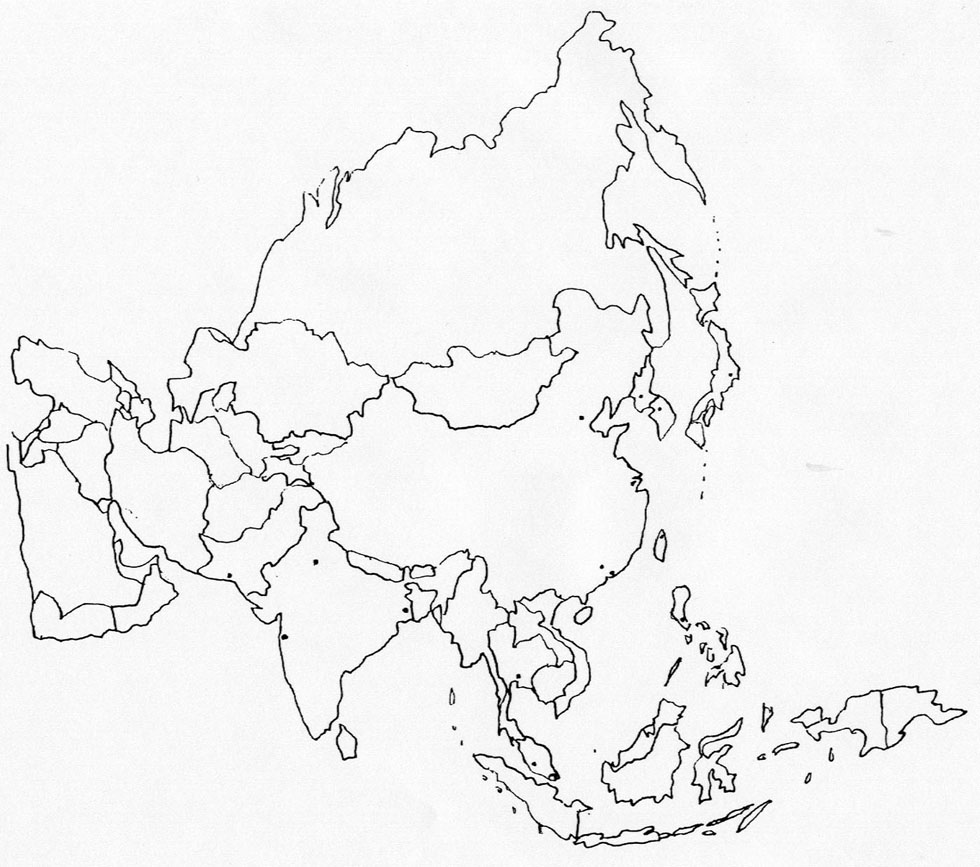 8 Best Images of Printable Blank Map Of Asia - Printable ...