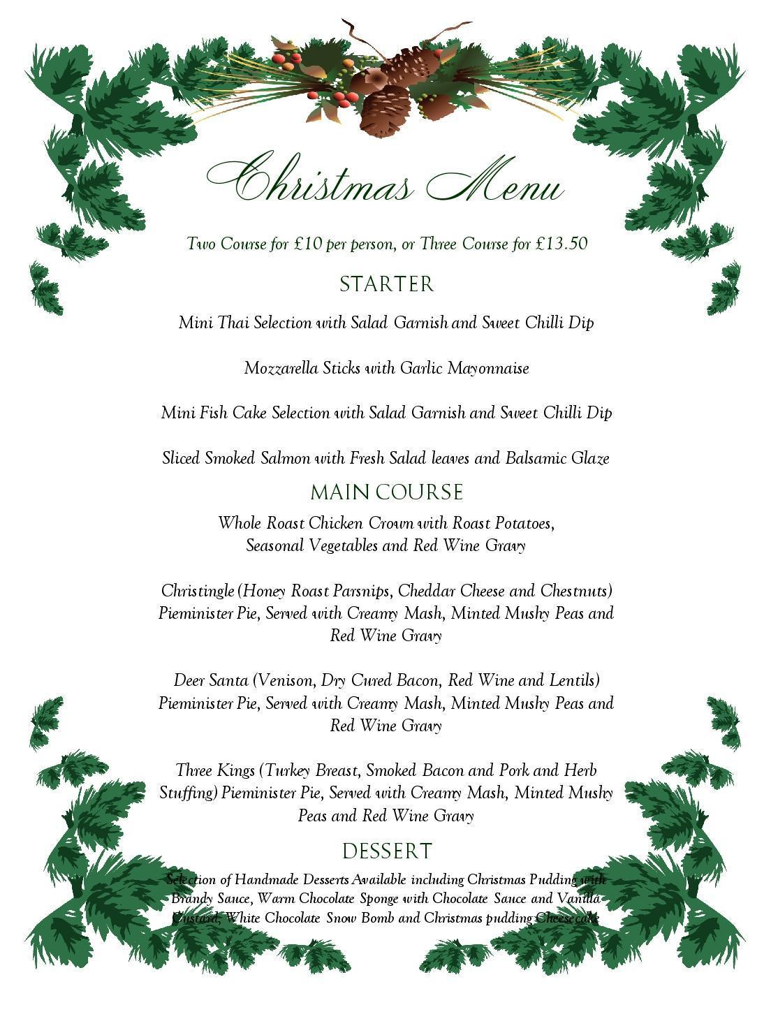 free menu templates for word - 6 best images of free printable holiday menu free