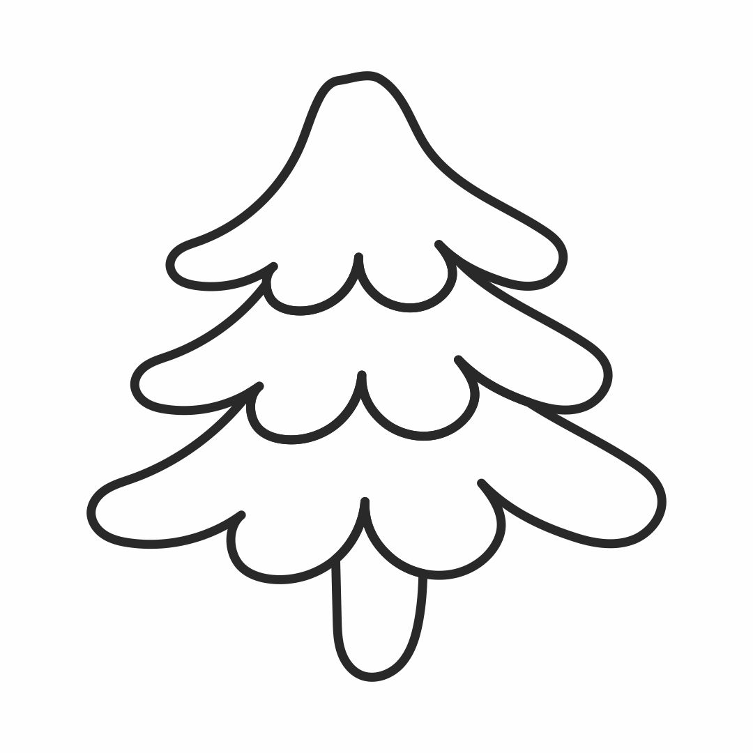 Christmas Tree Outline Pattern